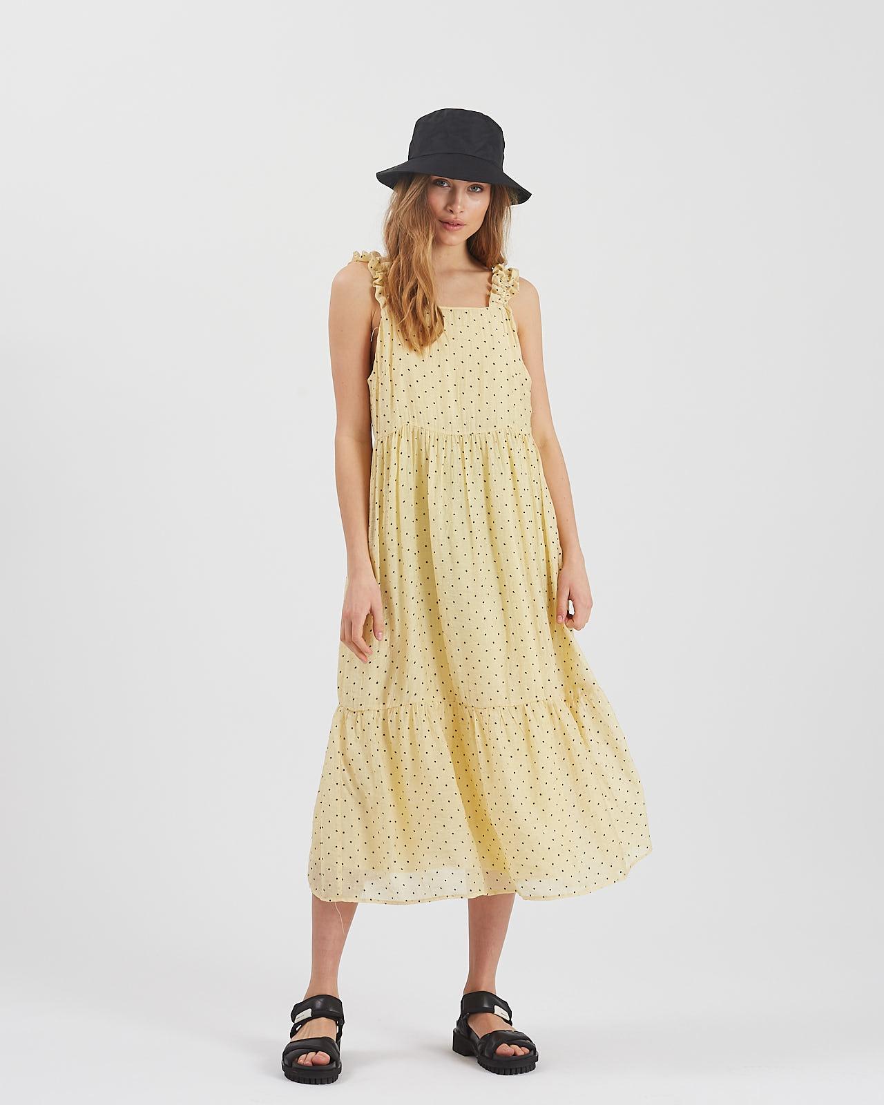 Moves Safim kjole, yellow, 38