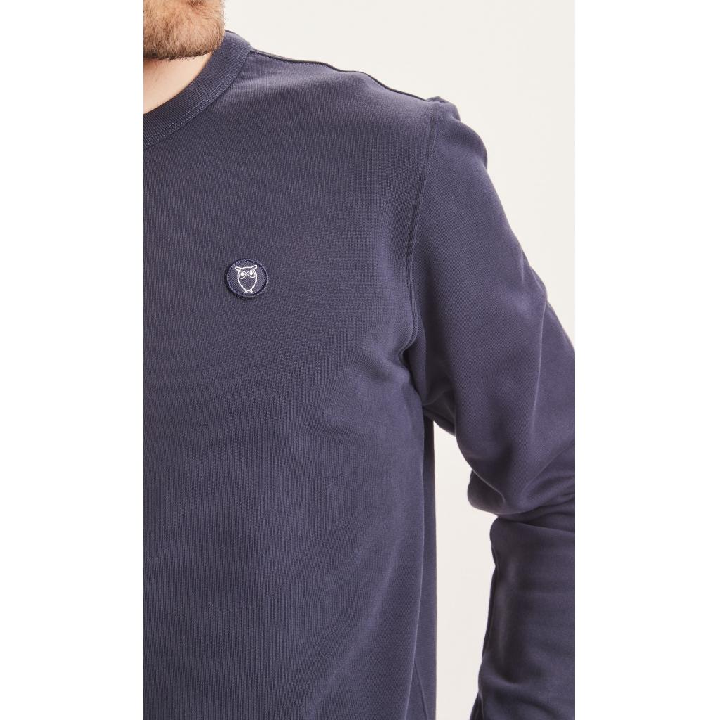 Knowledge Cotton Apparel ELM sweatshirt, grey melange, x-large