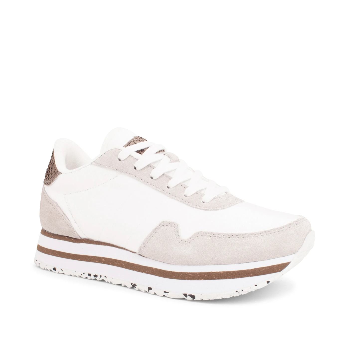 Woden Nora III Plateau sneakers, bright white, 37