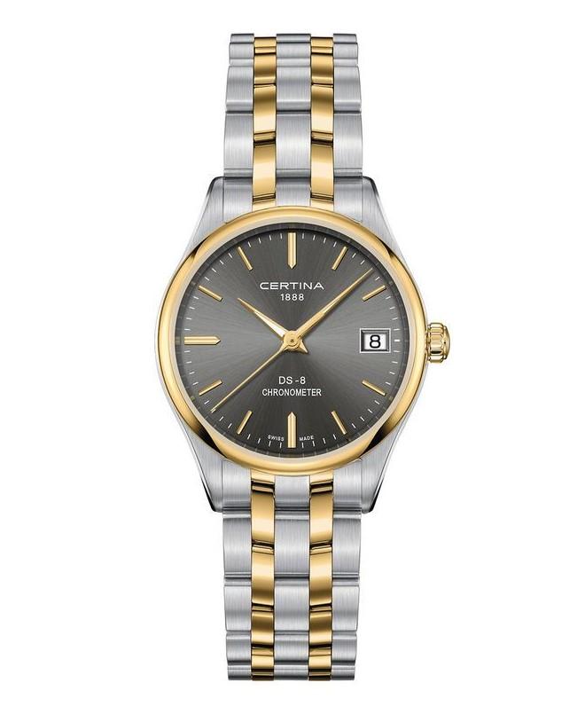 Certina DS-8 C0332512208100 dameur, Silver/Gold