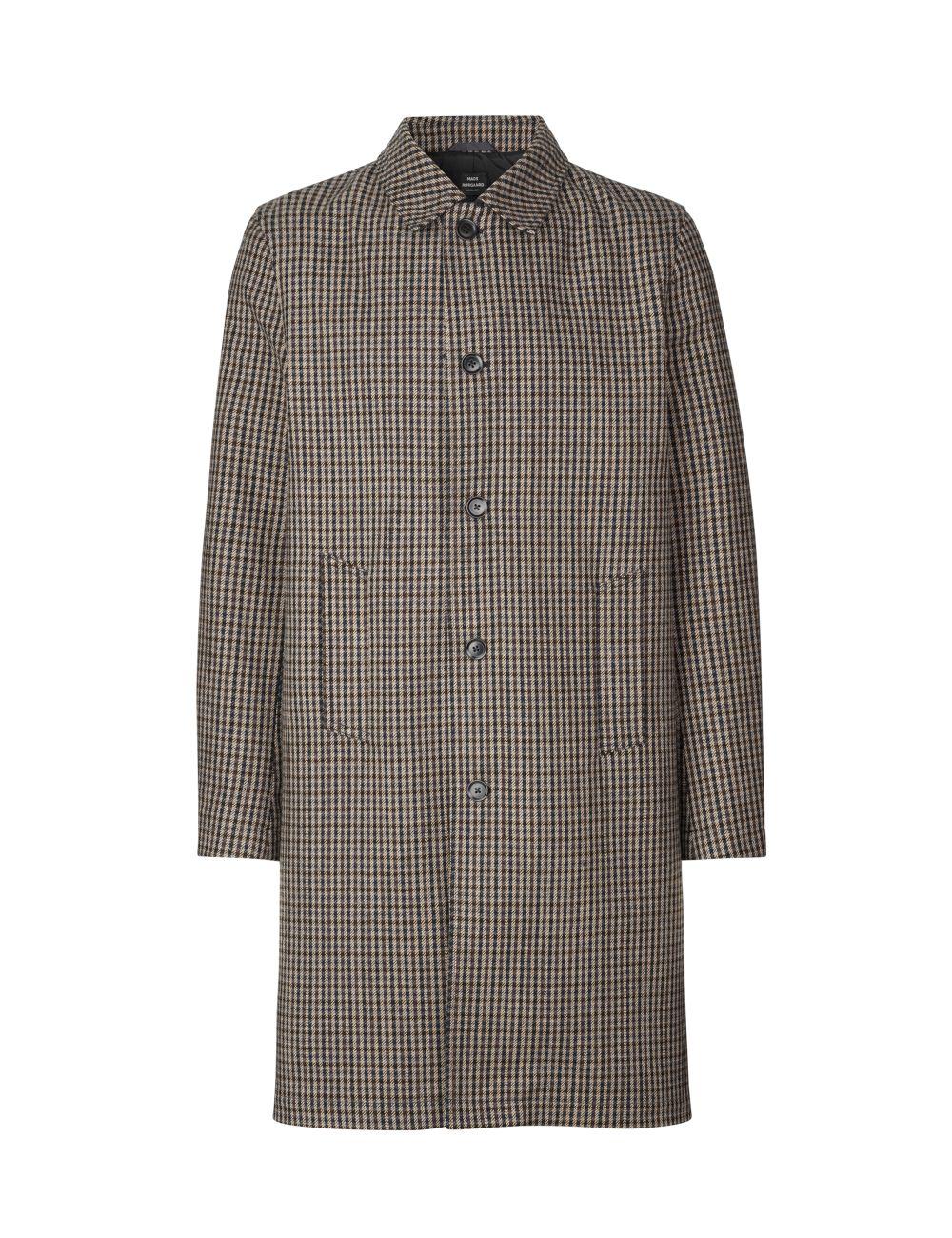 Mads Nørgaard Check Wool Carlo frakke