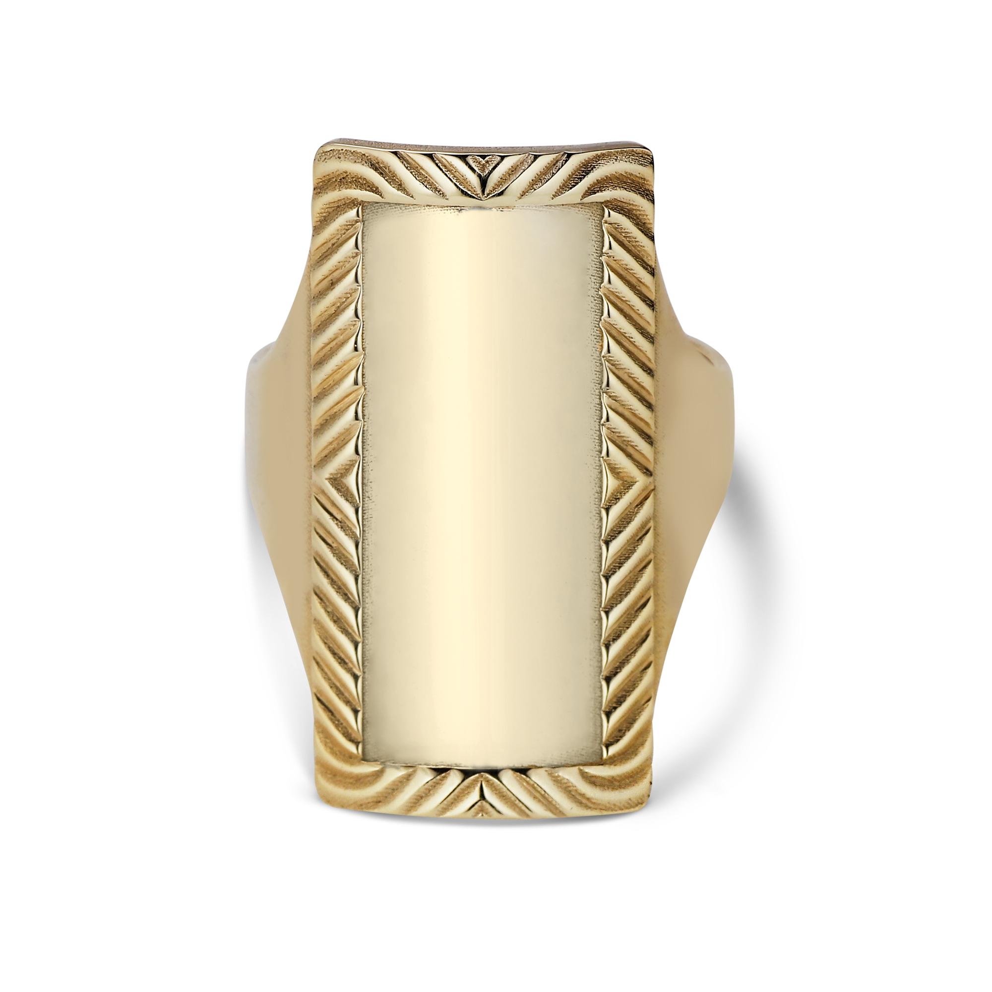 Jane Kønig Impression Armour ring, guld, 54