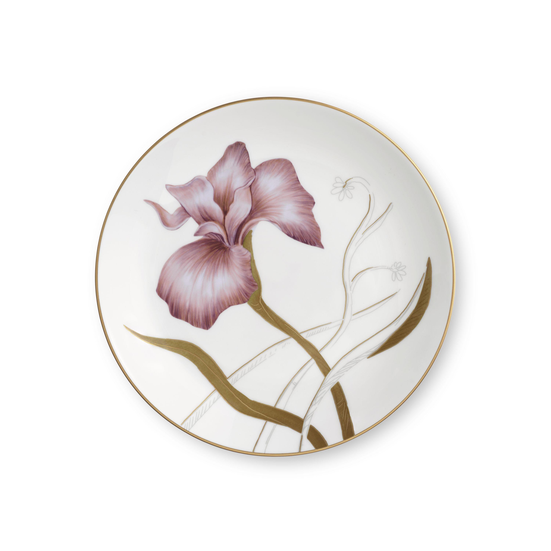 Royal Copenhagen Flora tallerken, Ø19 cm, iris