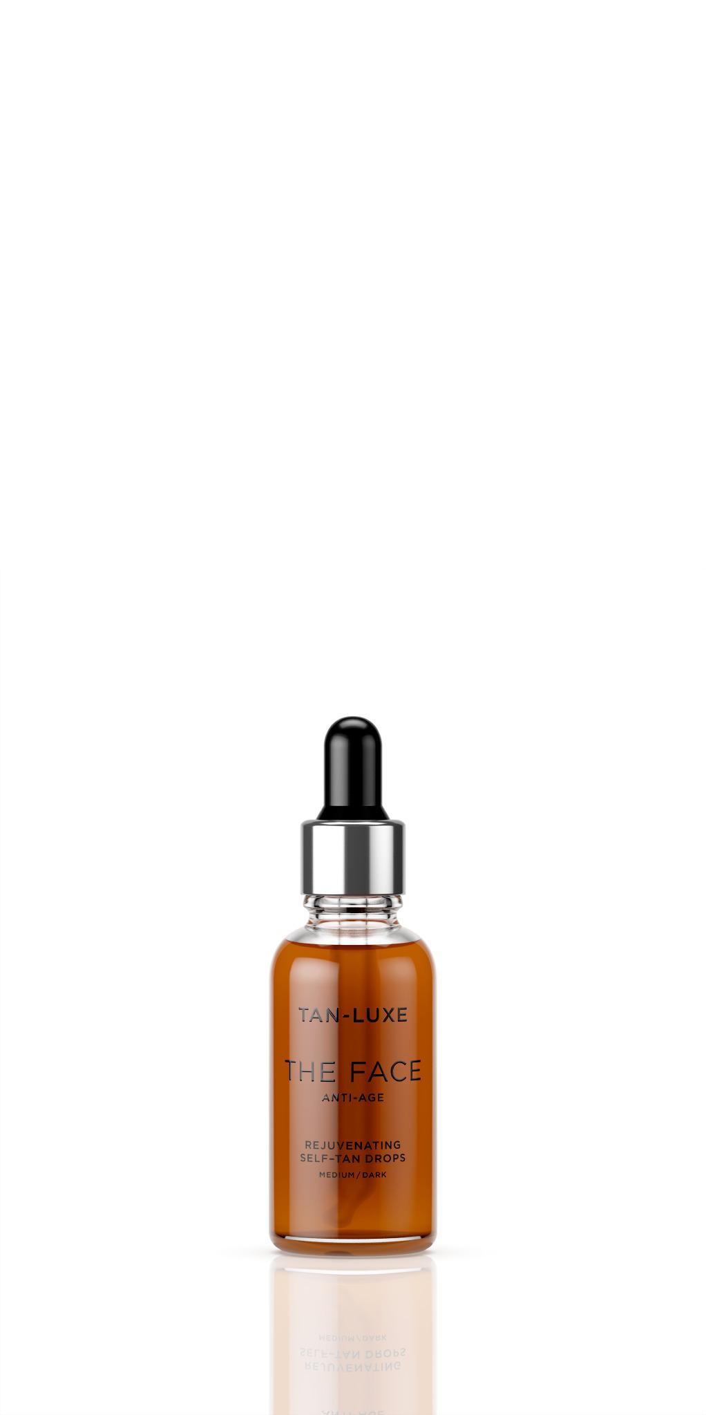 Tan Luxe The Face anti-age selvbruner dråber, 30 ml, medium/dark