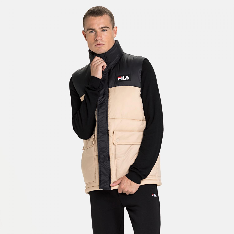 Fila Salo Puffer vest, black iris, medium