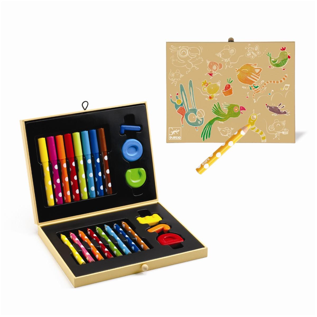 Djeco Kreativ tegnekuffert, for de små