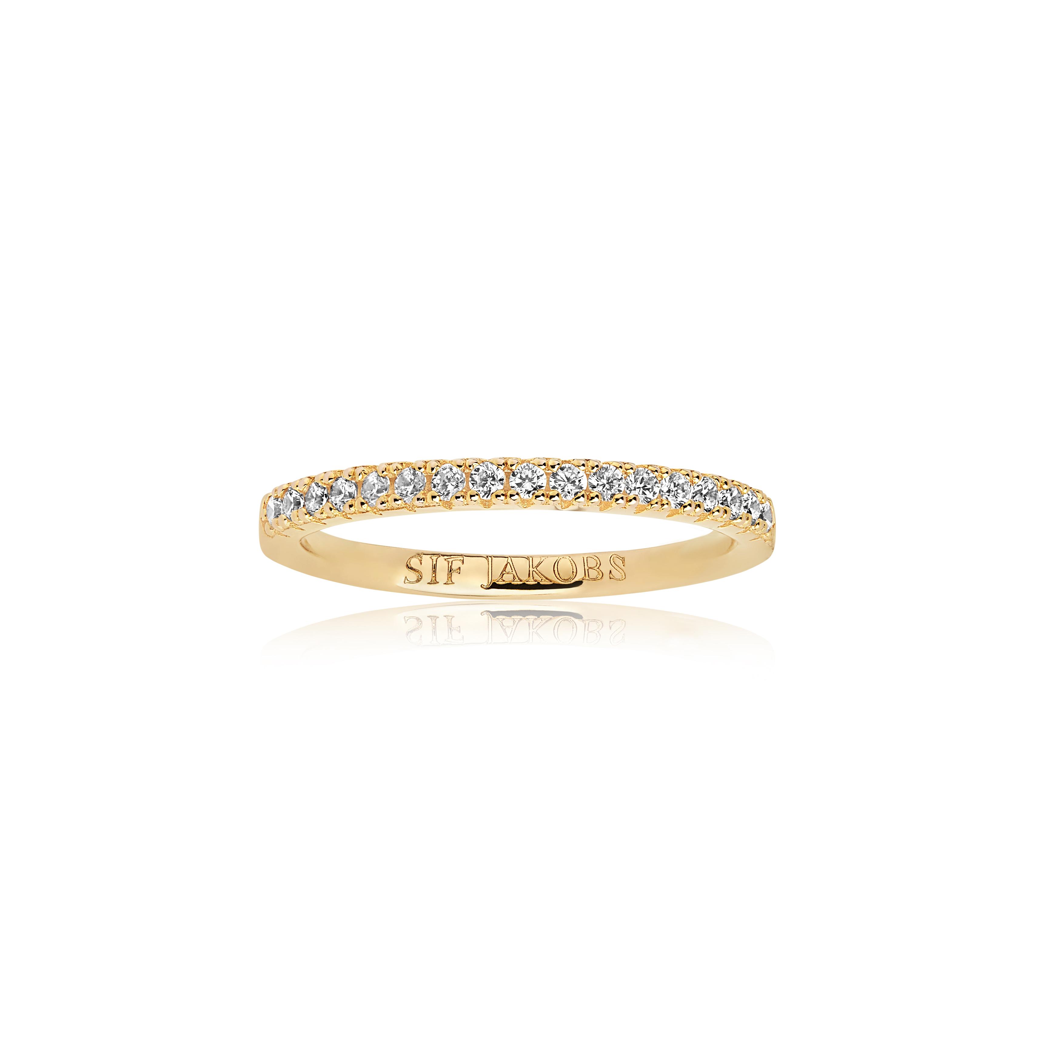 Sif Jakobs Jewellery Ellera ring, guld/hvid, 56