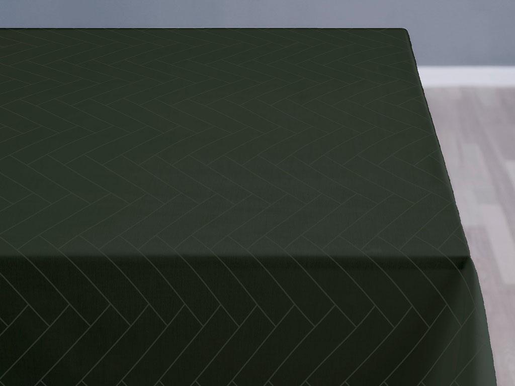 Södahl Tiles damaskdug, 140x320 cm, forest green