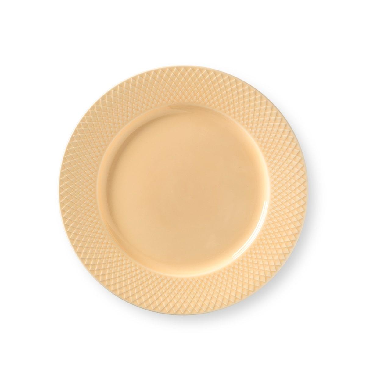 Lyngby Porcelæn Rhombe Color middagstallerken, Ø27 cm, sand