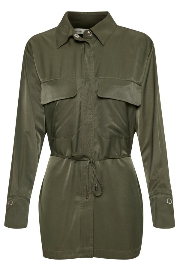 InWear KellieIW skjortejakke, beetle green, 36