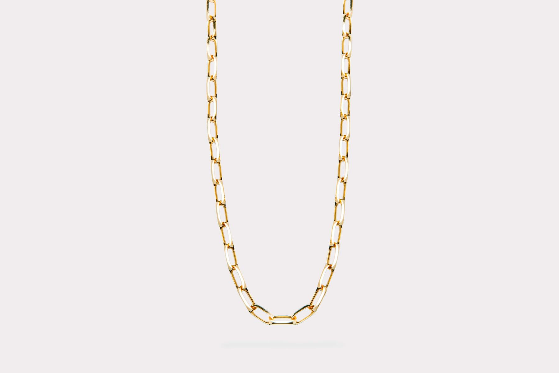 Frederik IX Studios Prestige halskæde, gold, 42 cm