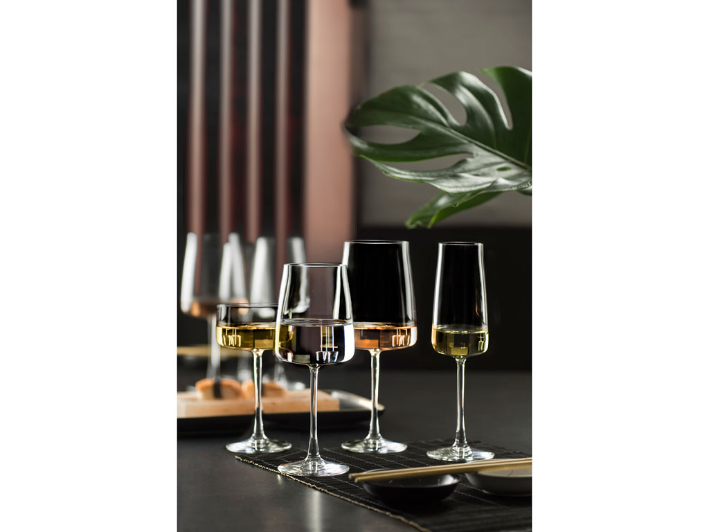 Lyngby-Glas Krystal Zero hvidvinsglas, 430 ml, 4 stk