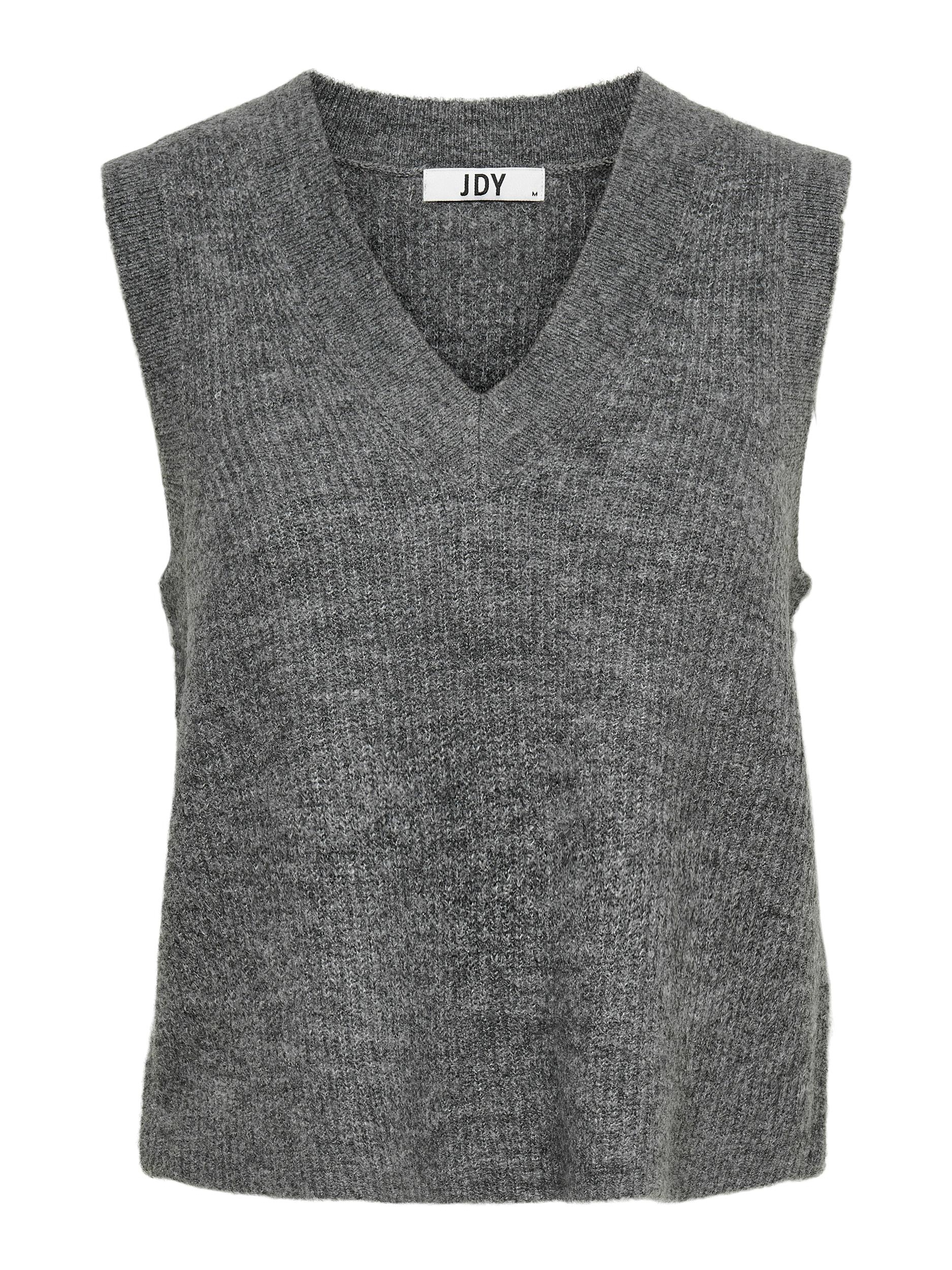 Jacqueline de Yong Elanor vest, dark grey melange, x-large