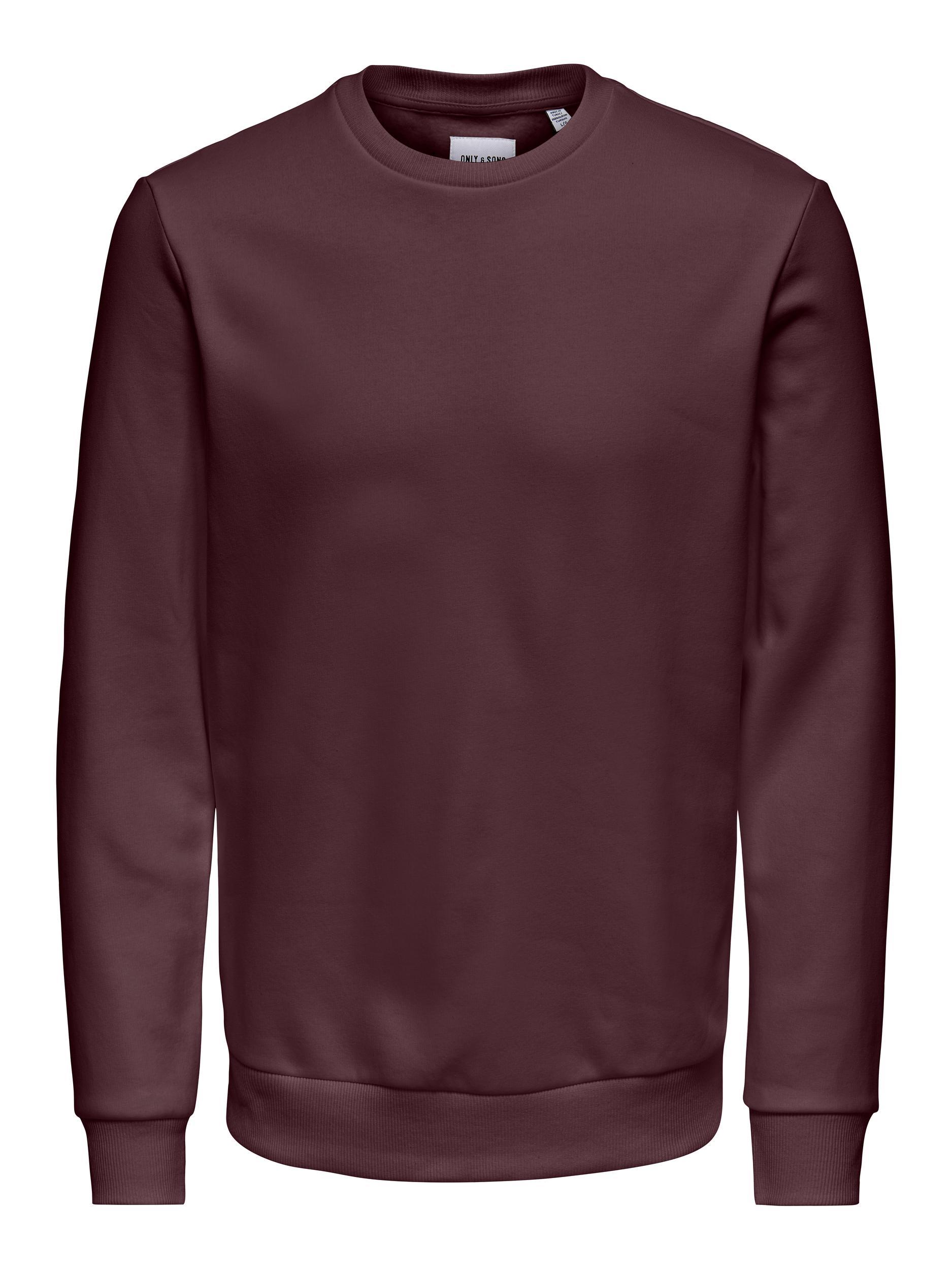 Only & Sons Ceres Life Crew Neck sweatshirt, fudge, large