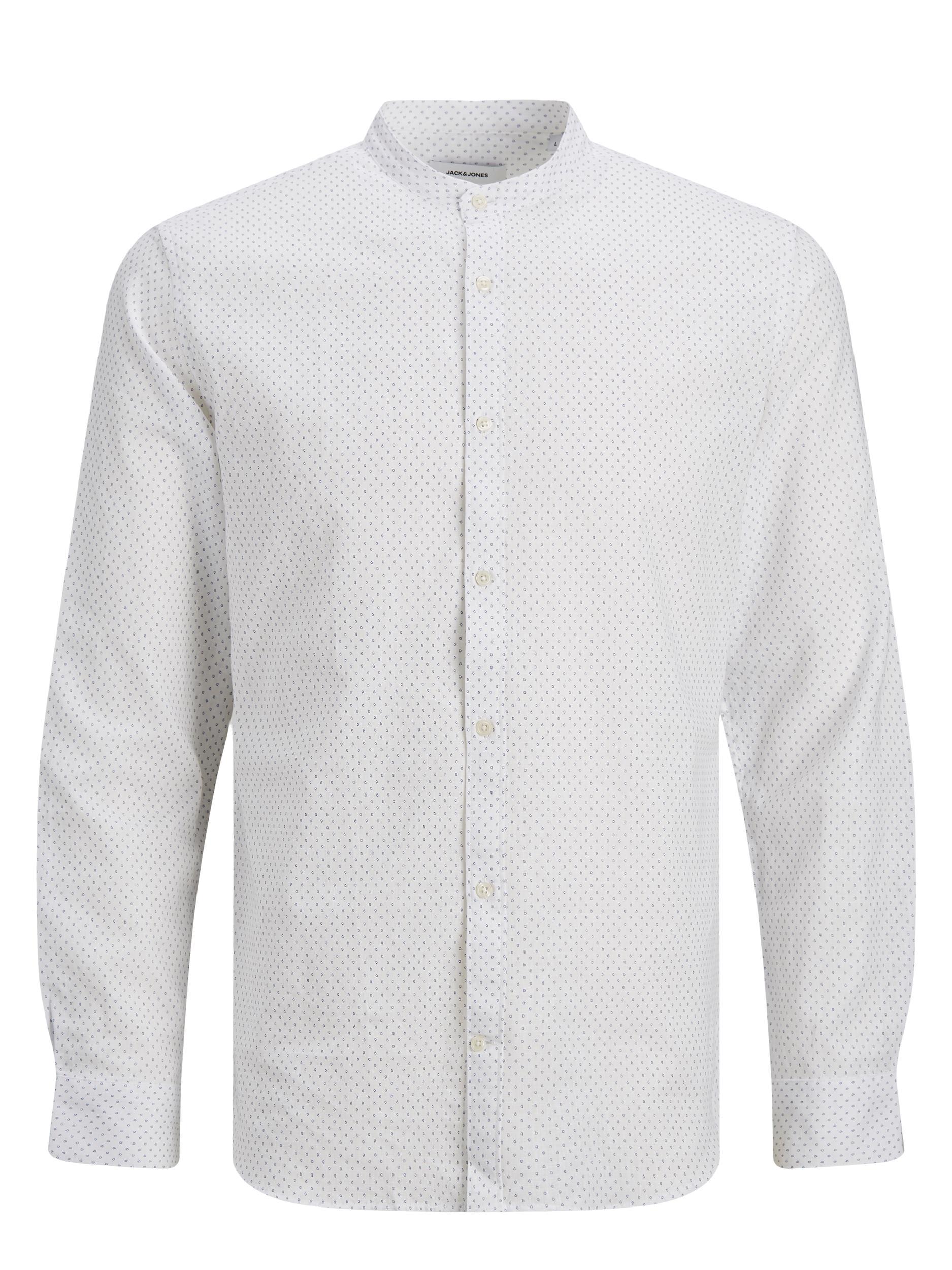 Jack & Jones Band summer shirt, white, x-large
