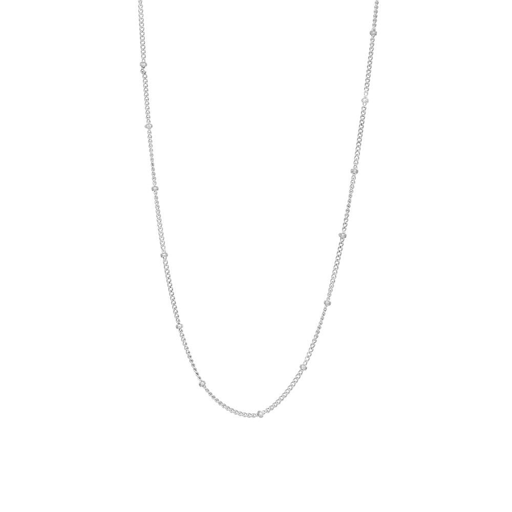Nordahl 825 755 halskæde, rhodineret sølv
