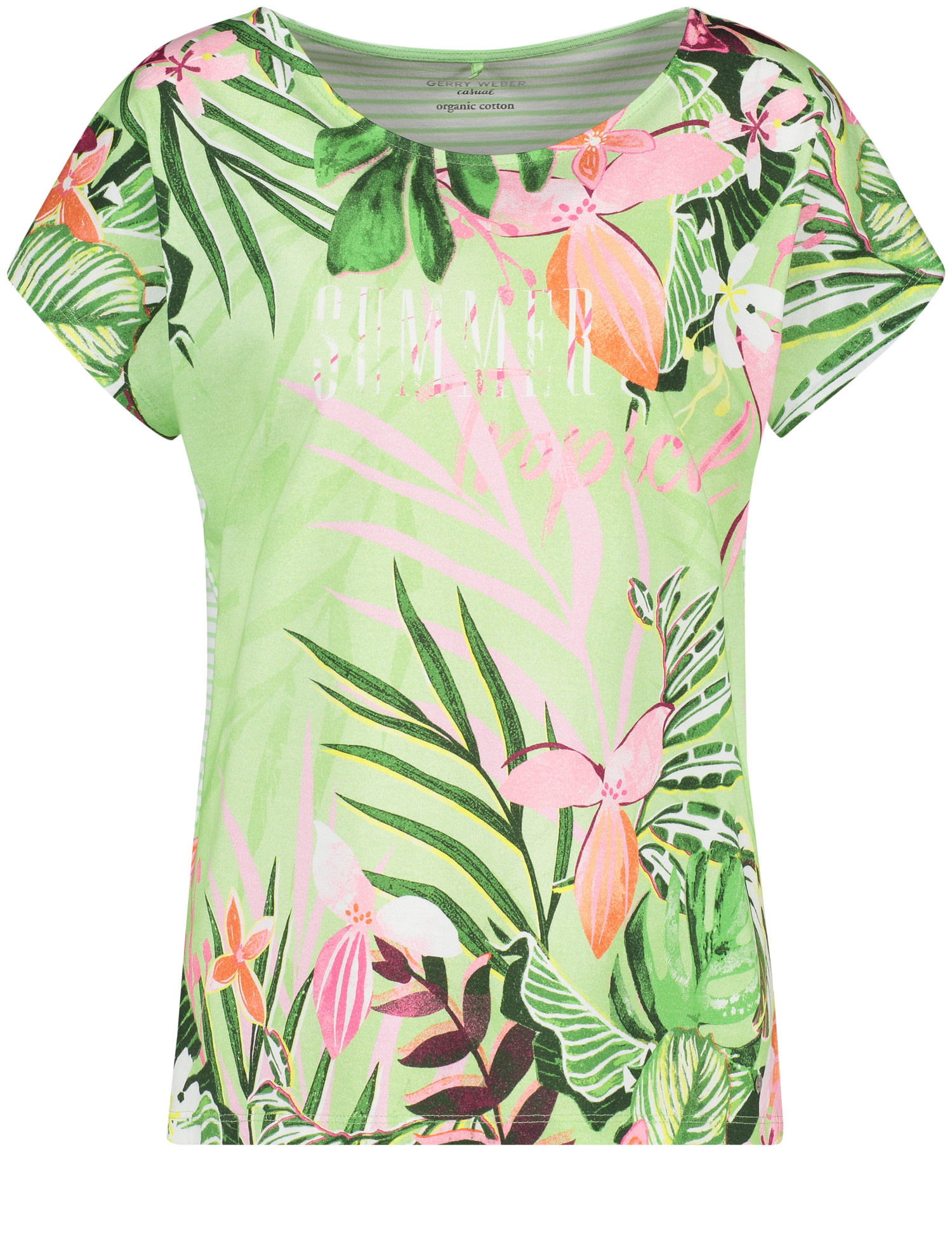 Gerry Weber Floral t-shirt, green multicolor, 44