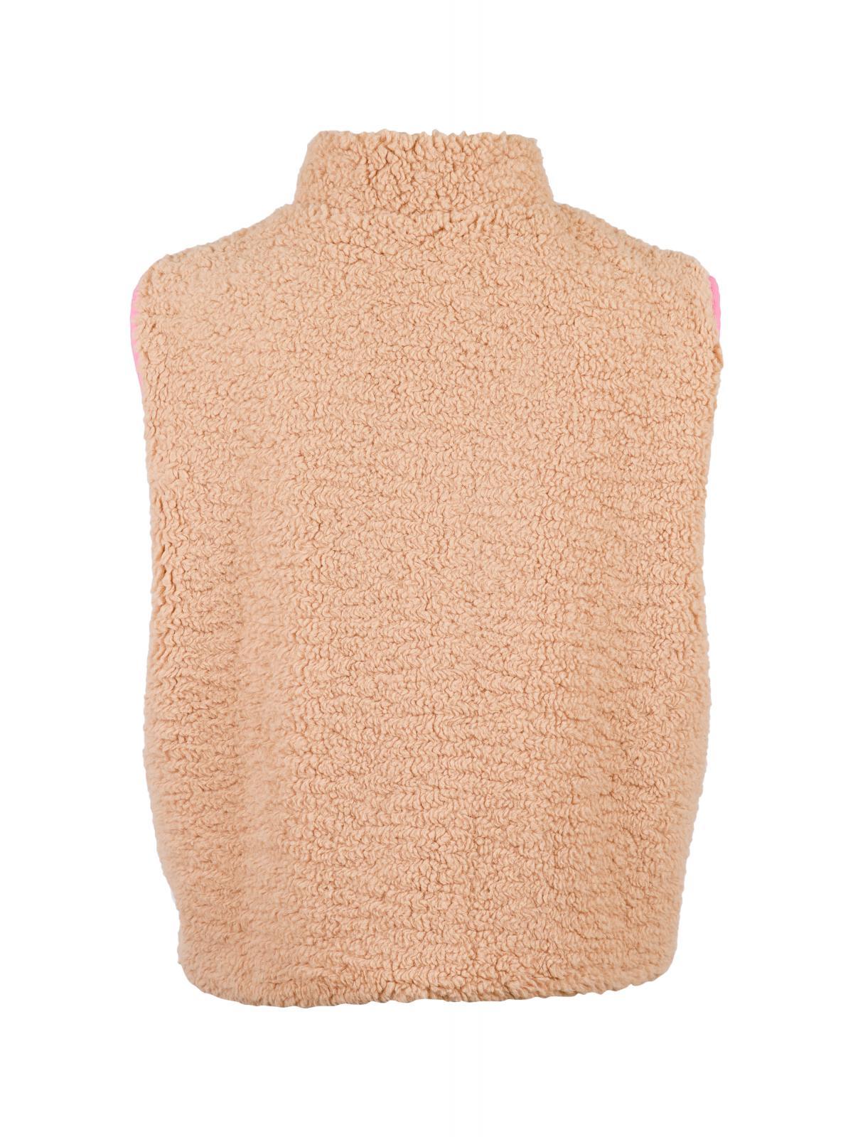Neo Noir Scout Teddy vest, pink, 38