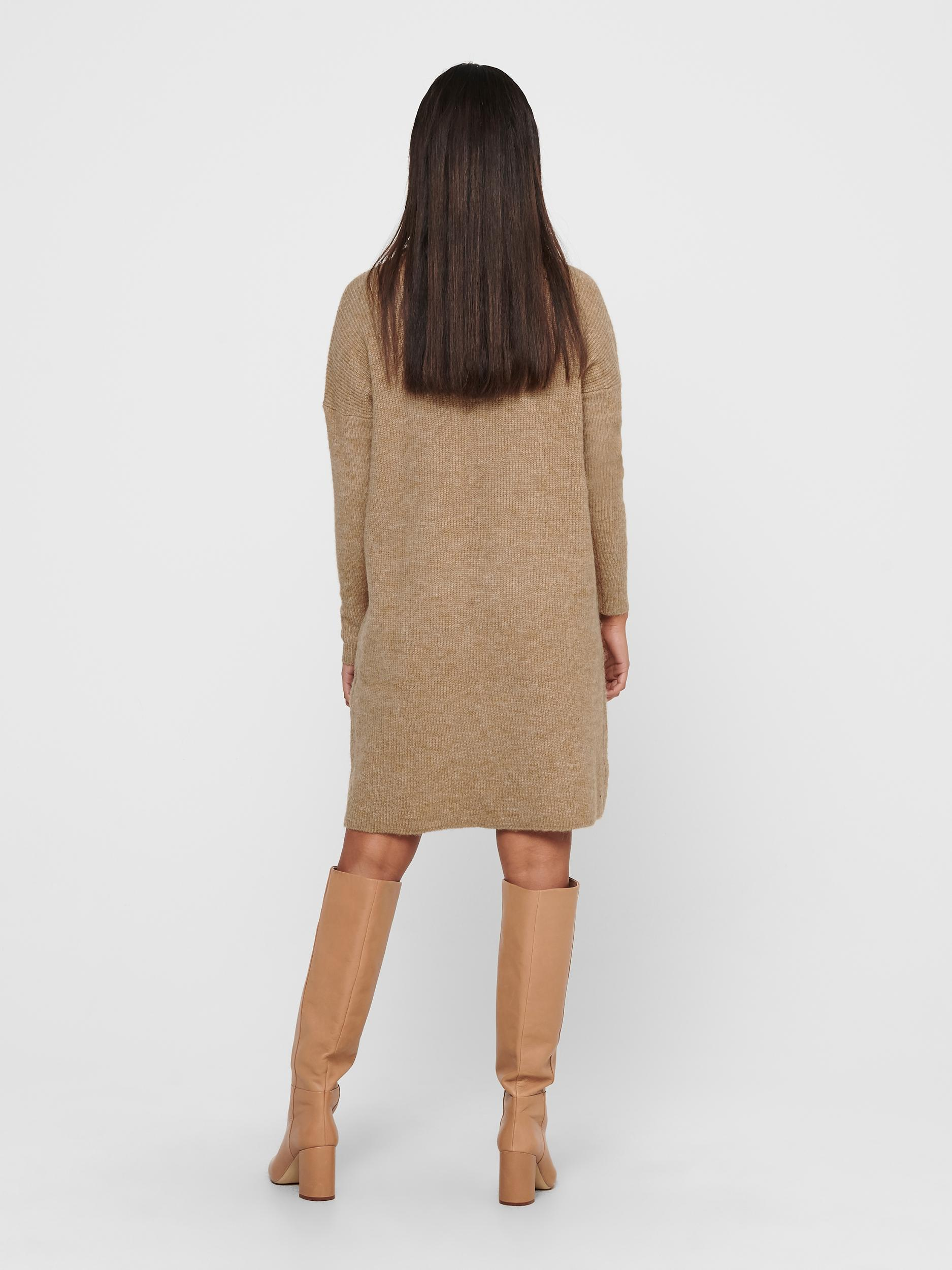 ONLY Jana strikkjole, indian tan, small