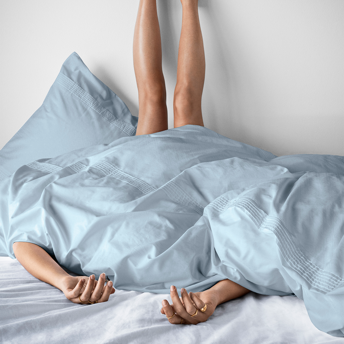 Juna Aristo sengelinned, 140x220 cm, blå