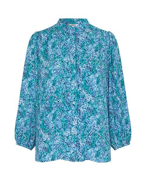 mbyM Solstice skjorte, blue print, small