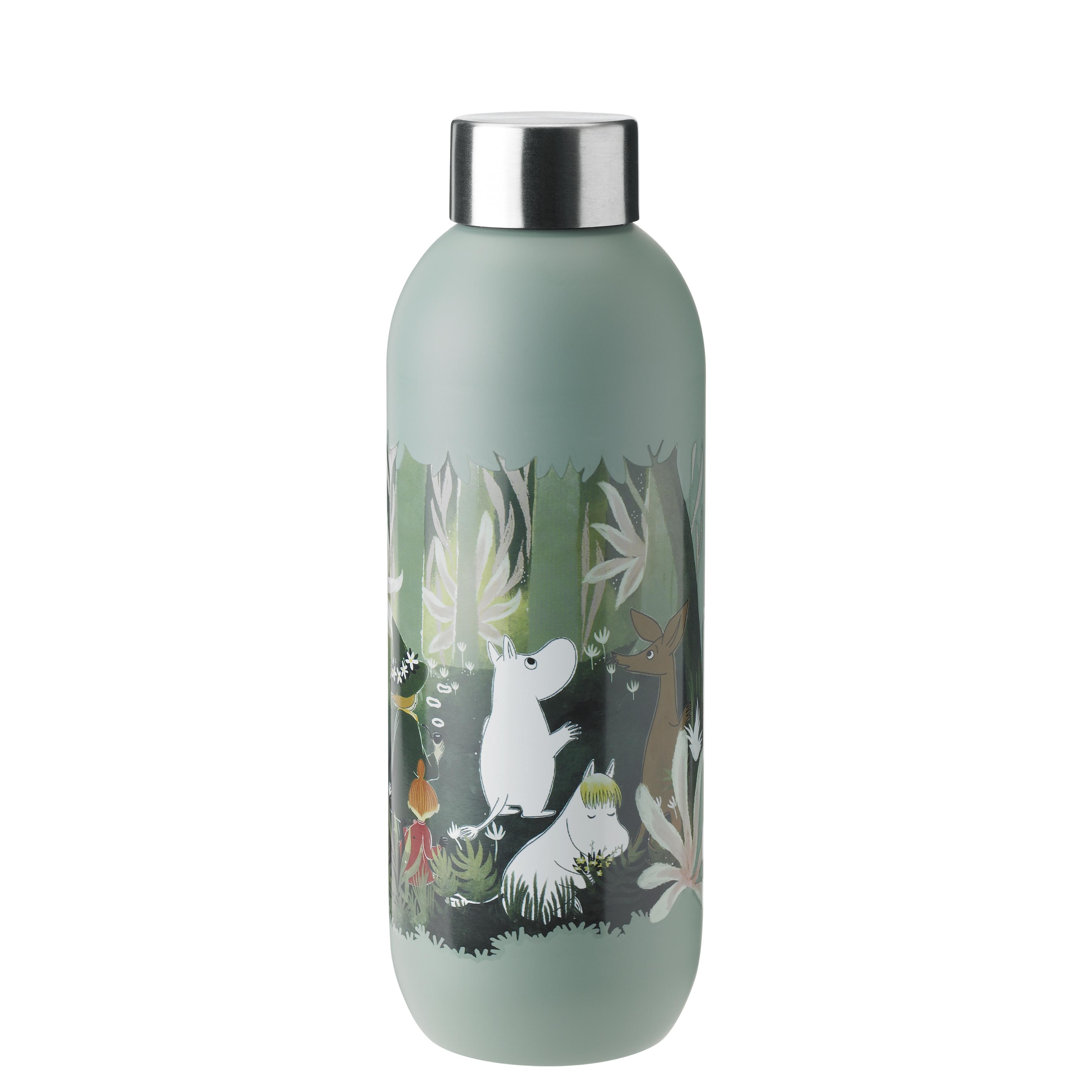 Stelton Mumi Keep Cool drikkeflaske, 750 ml, dusty green