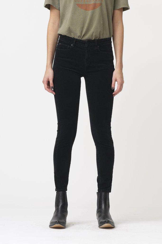 Ivy Copenhagen Alexa Ankle Baby Cord Jeans, Sort, W31/L32