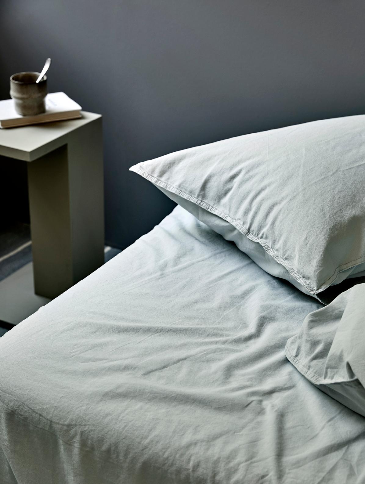 Høie Frøya sengelinned, 140x220 cm, himmelblå