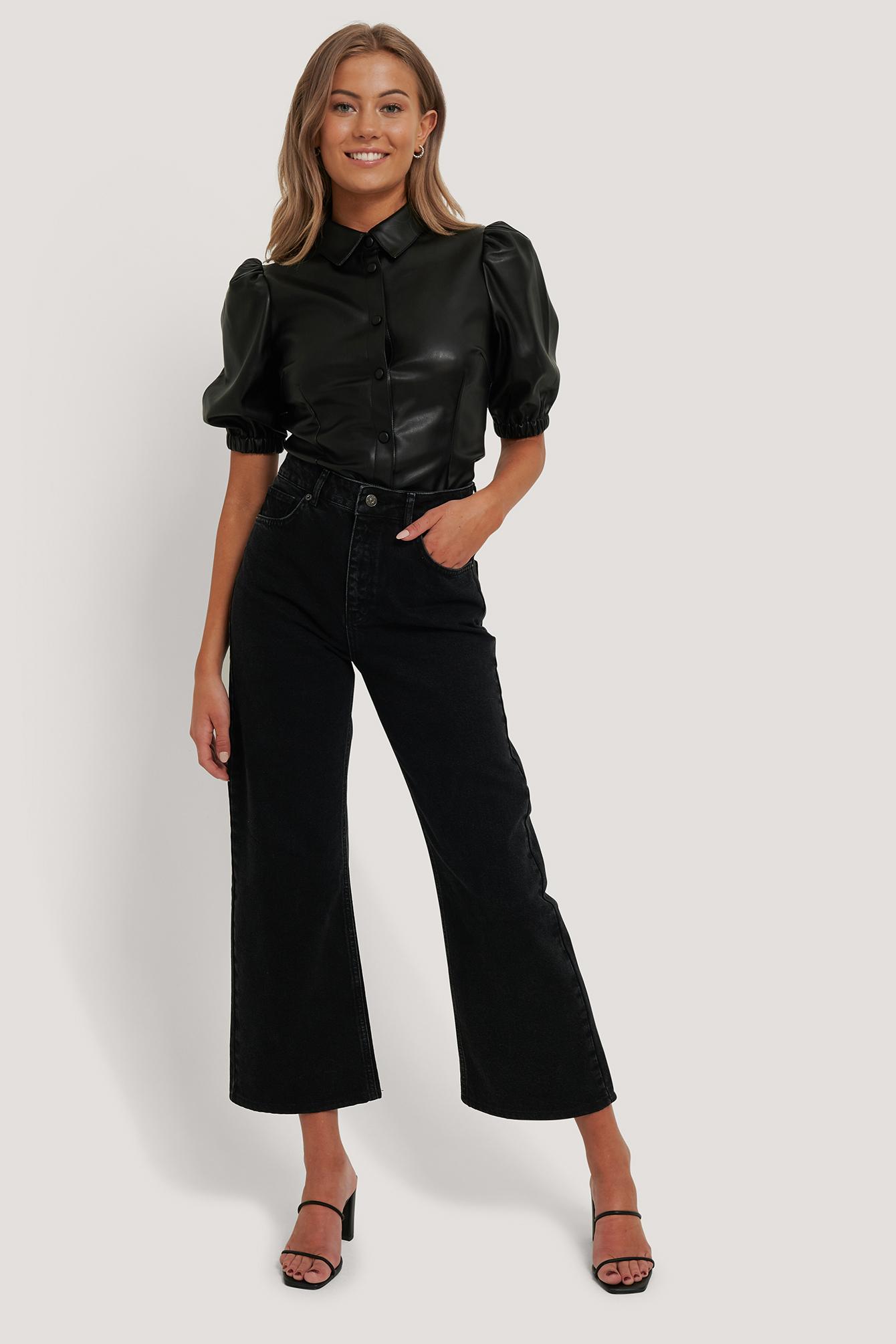 NA-KD Stumpe jeans m. vidde