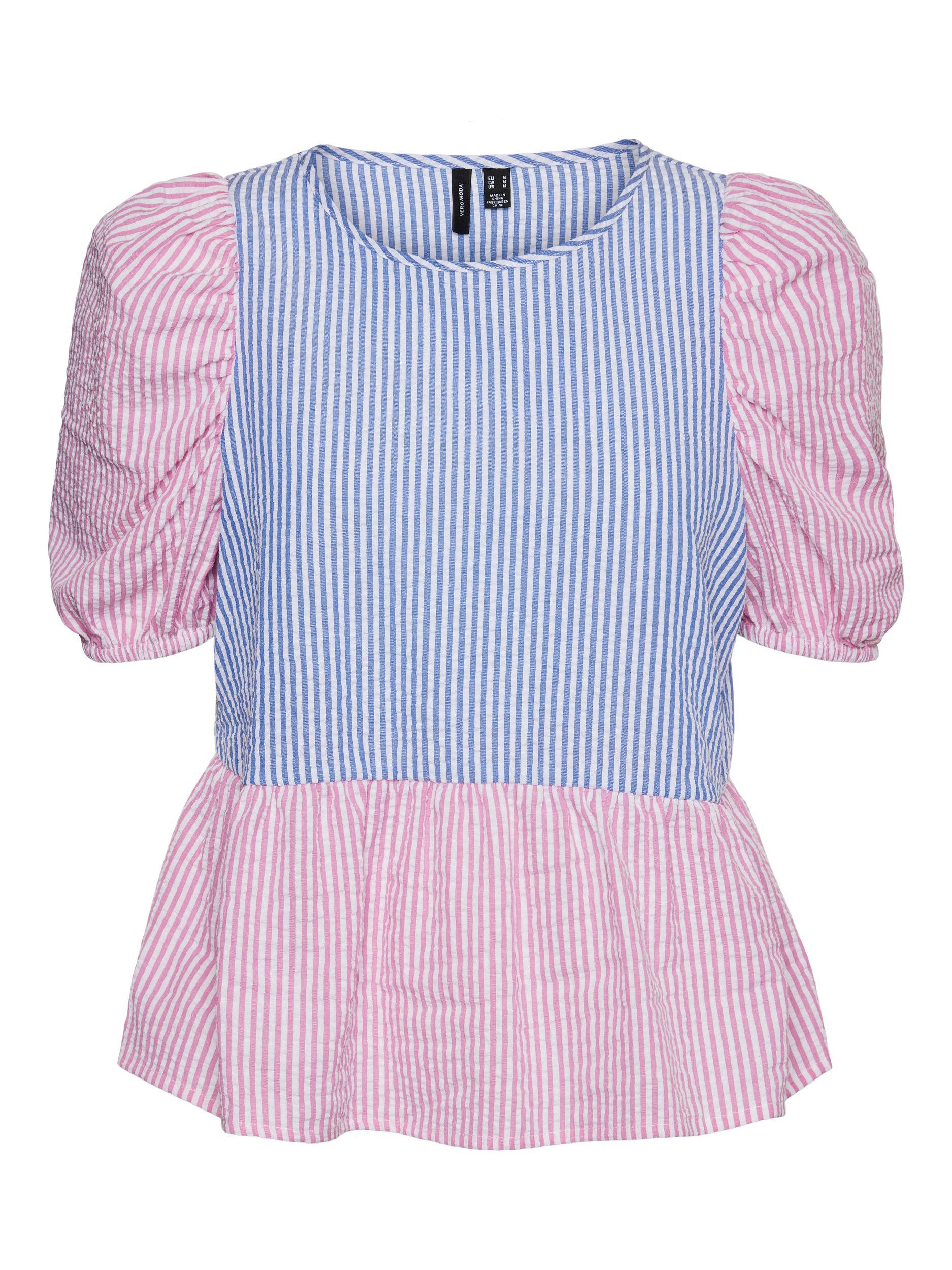 Vero Moda Iris bluse, white/pink, medium