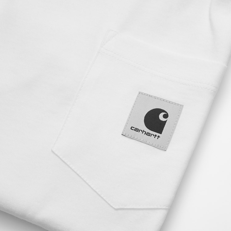 Carhartt W' L/S pocket t-shirt, hvid, large