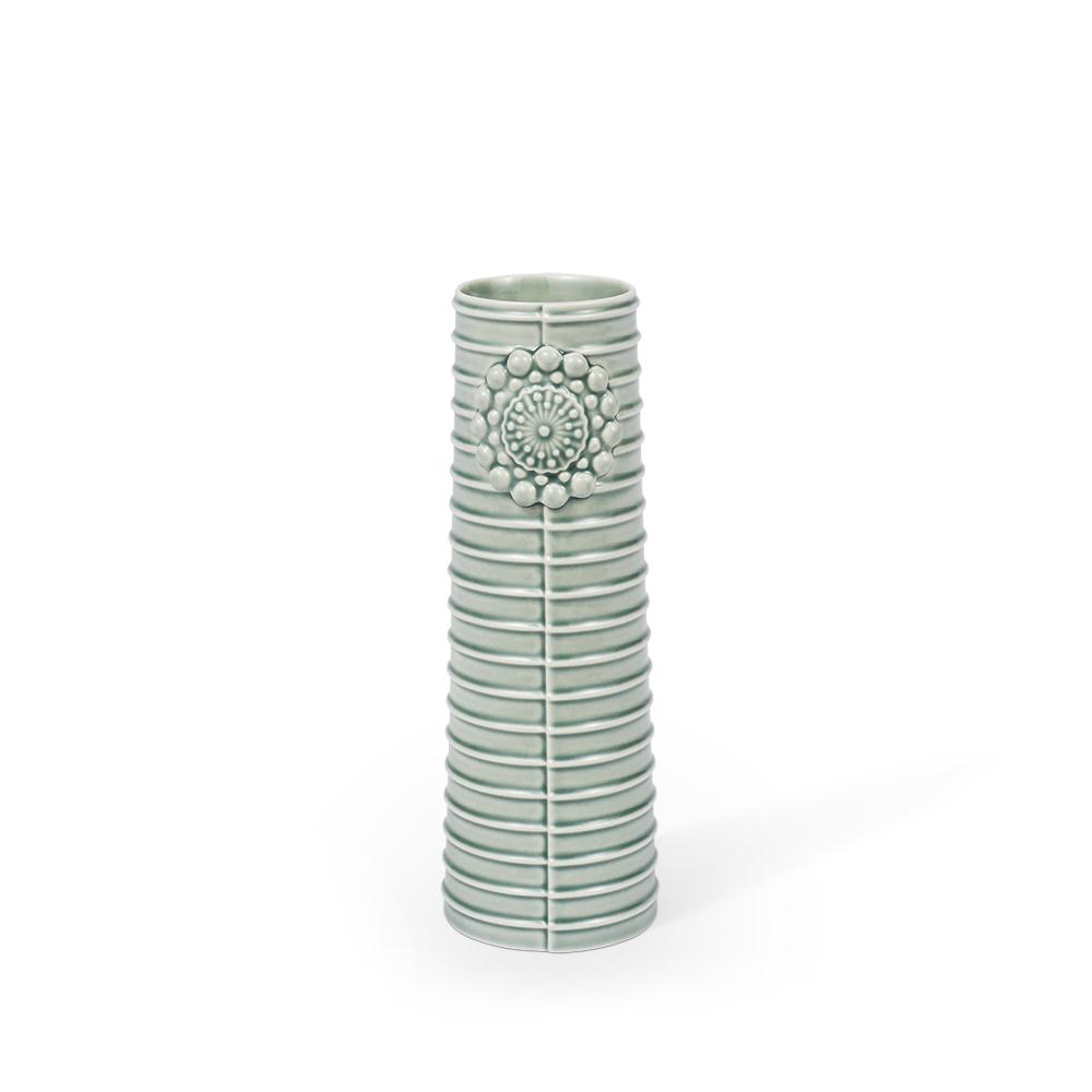 DOTTIR Pipanella Lines vase, small, green