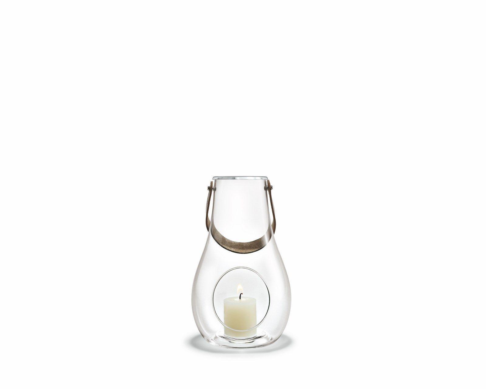 Holmegaard Design with light lanterne, 24,8 cm, klar