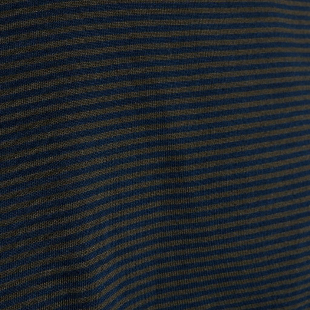 Knowledge Cotton Apparel Alder striped basic t-shirt, forrest night, large