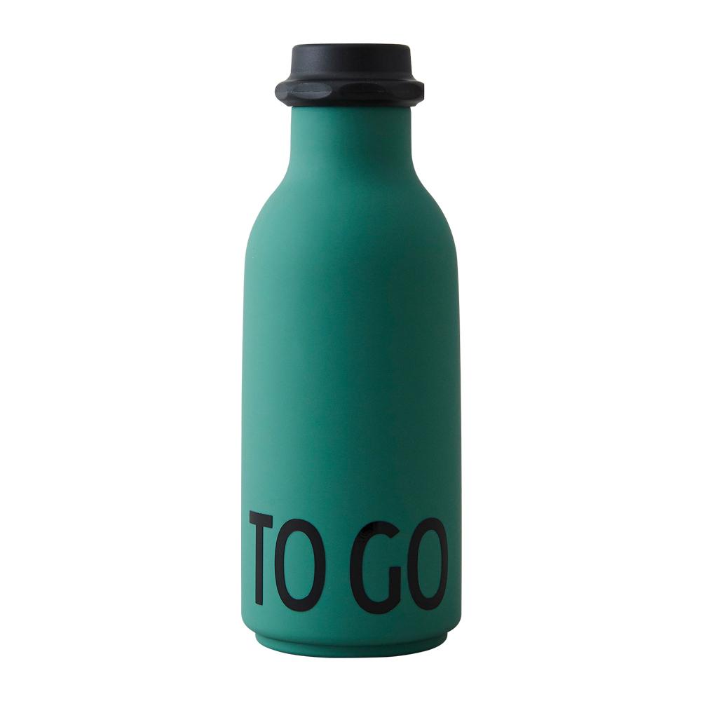 Design Letters To Go vandflaske, mørkegrøn