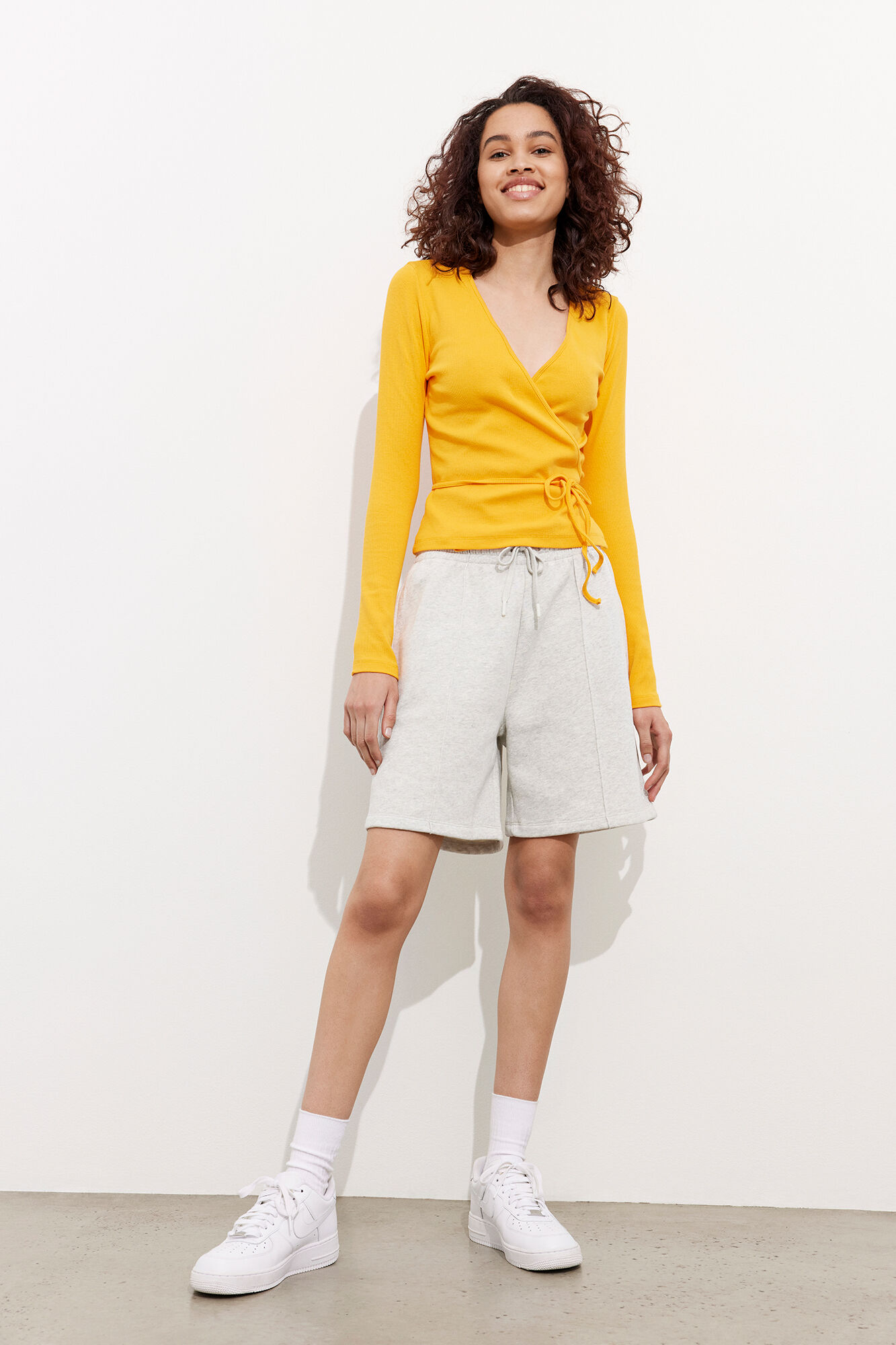 Envii Enally LS t-shirt, cadmium yellow, large