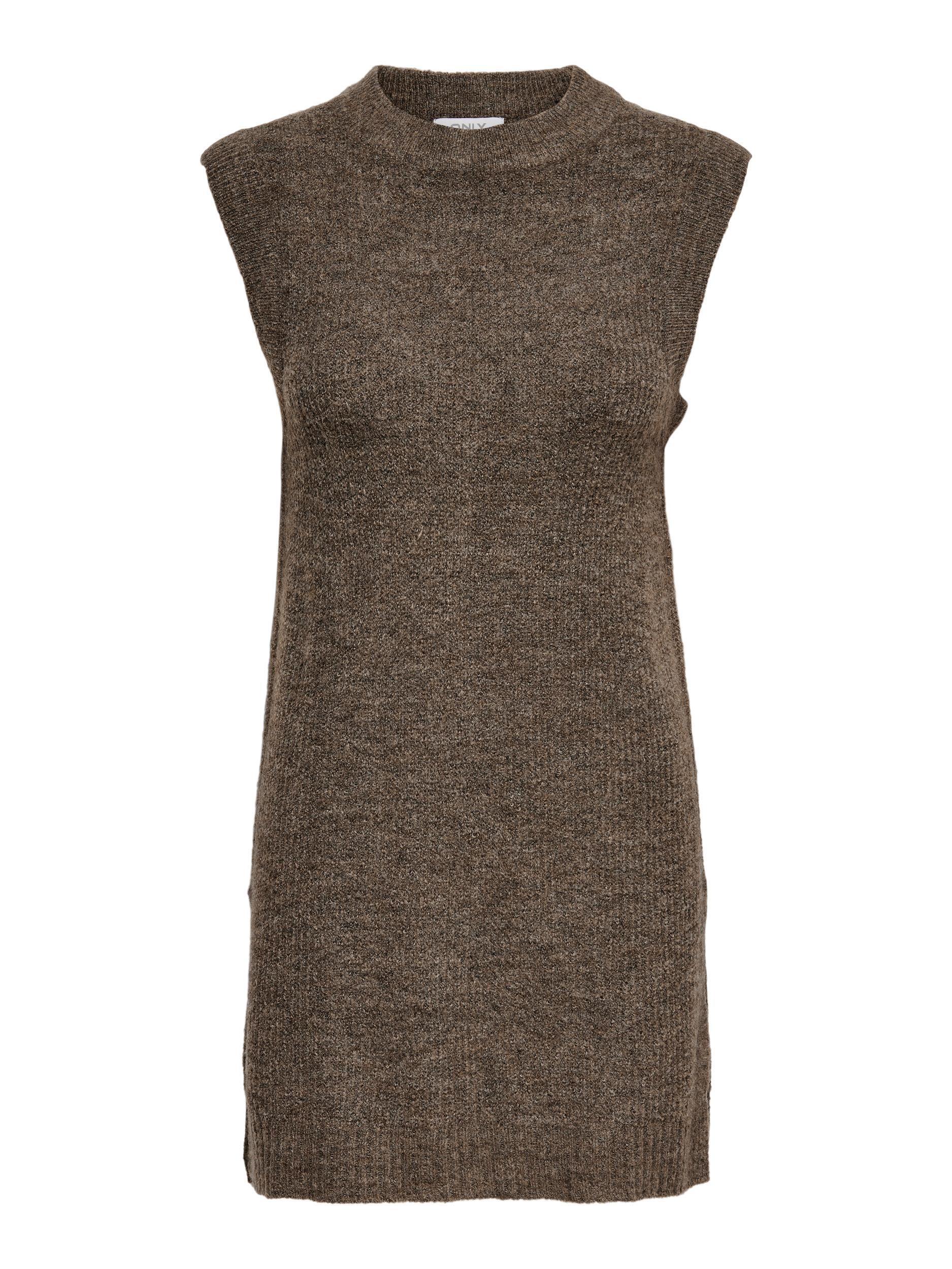ONLY Karinna lang vest, chestnut, M