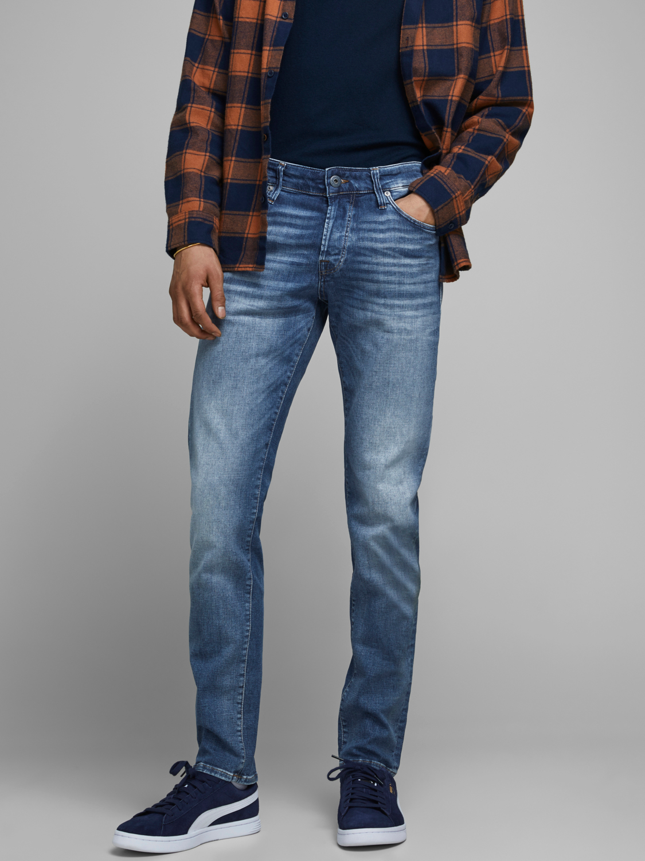Jack & Jones Glenn Icon slim fit jeans, blue denim, 34/32