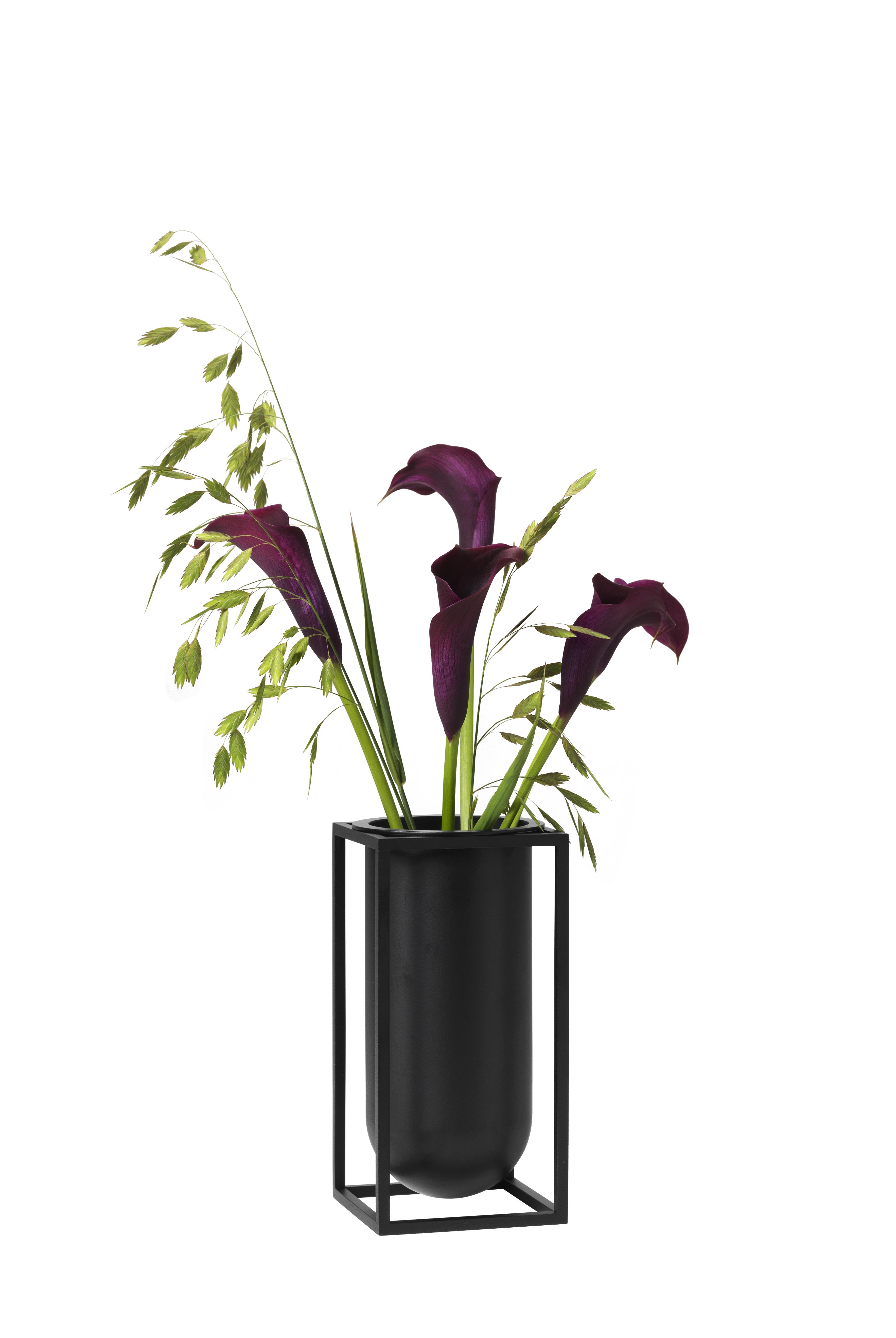 ByLassen Kubus Lily vase, sort