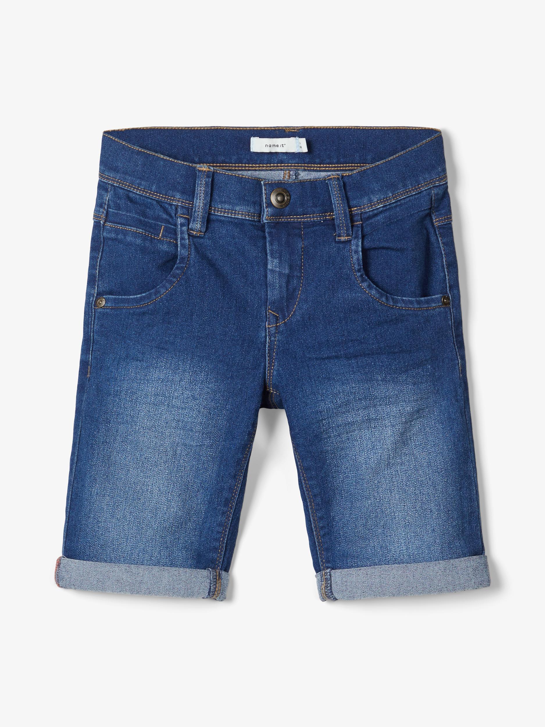 Name It Sofus lange shorts, medium blue denim, 116