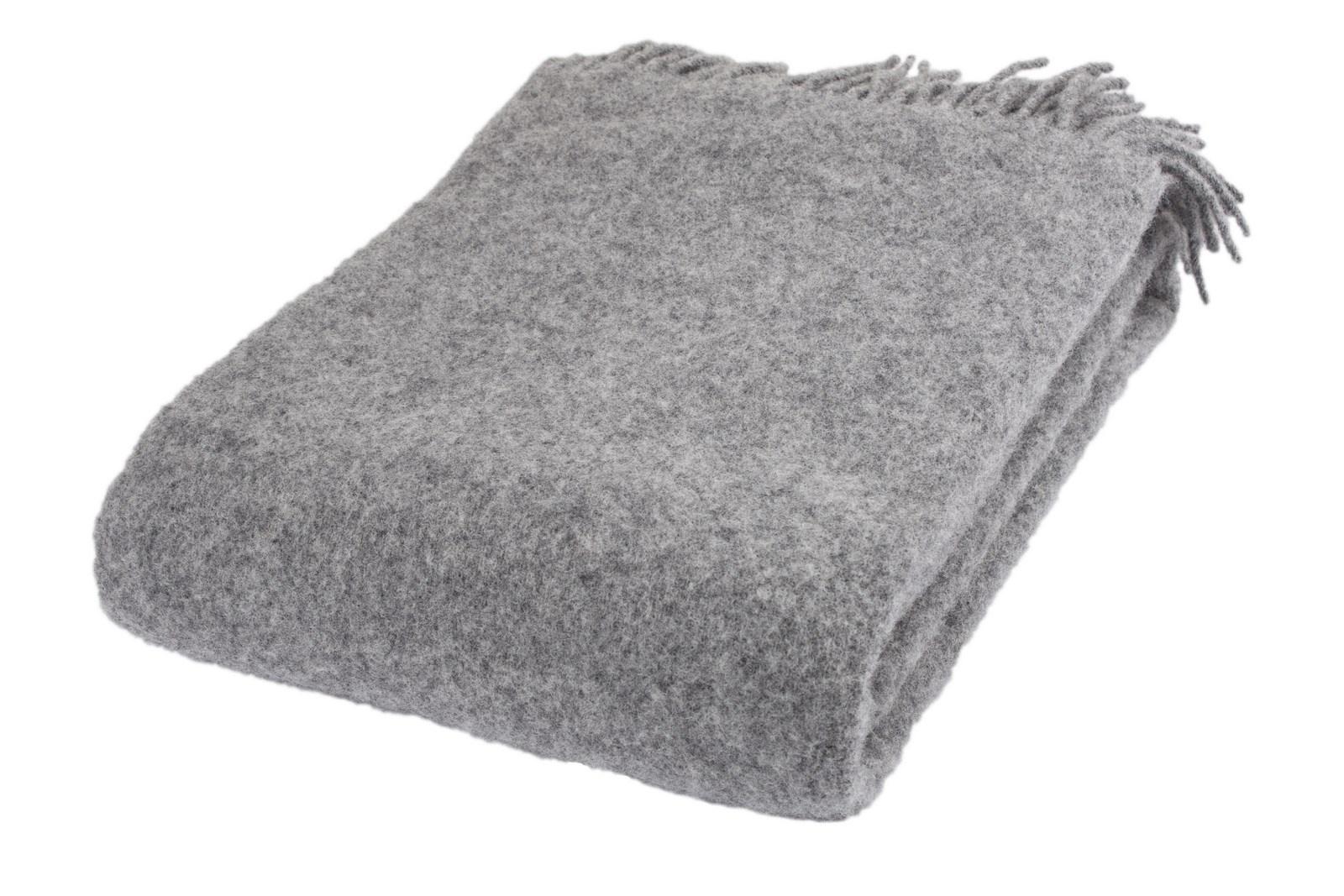 Arctic Plain uldplaid, 130x200 cm, grey