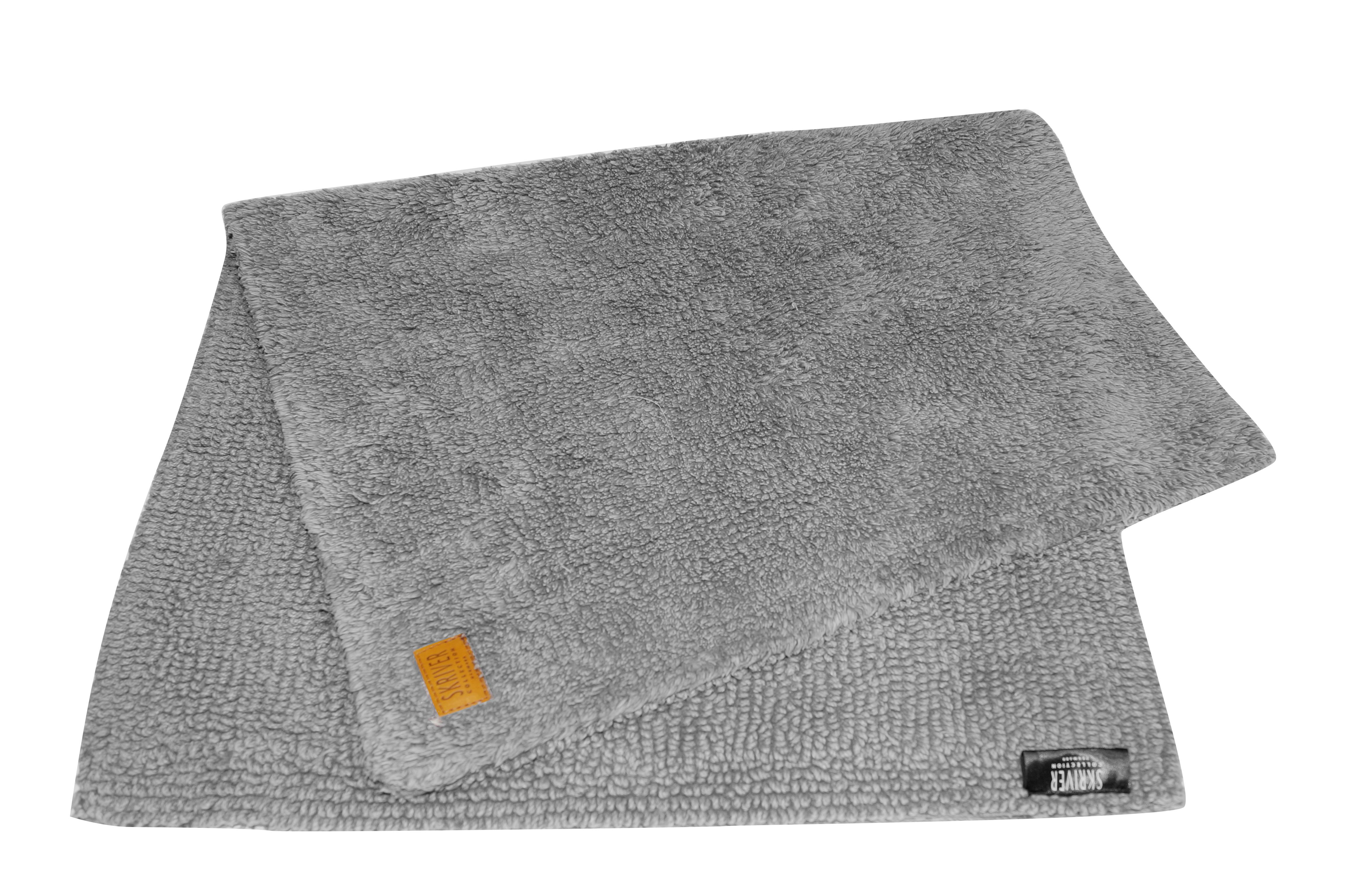 Skriver bademåtte, 80x120 cm, grå