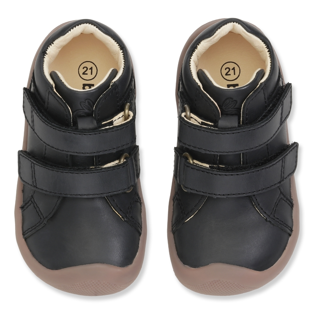 Bundgaard The Walk Velcro sko, black, 22