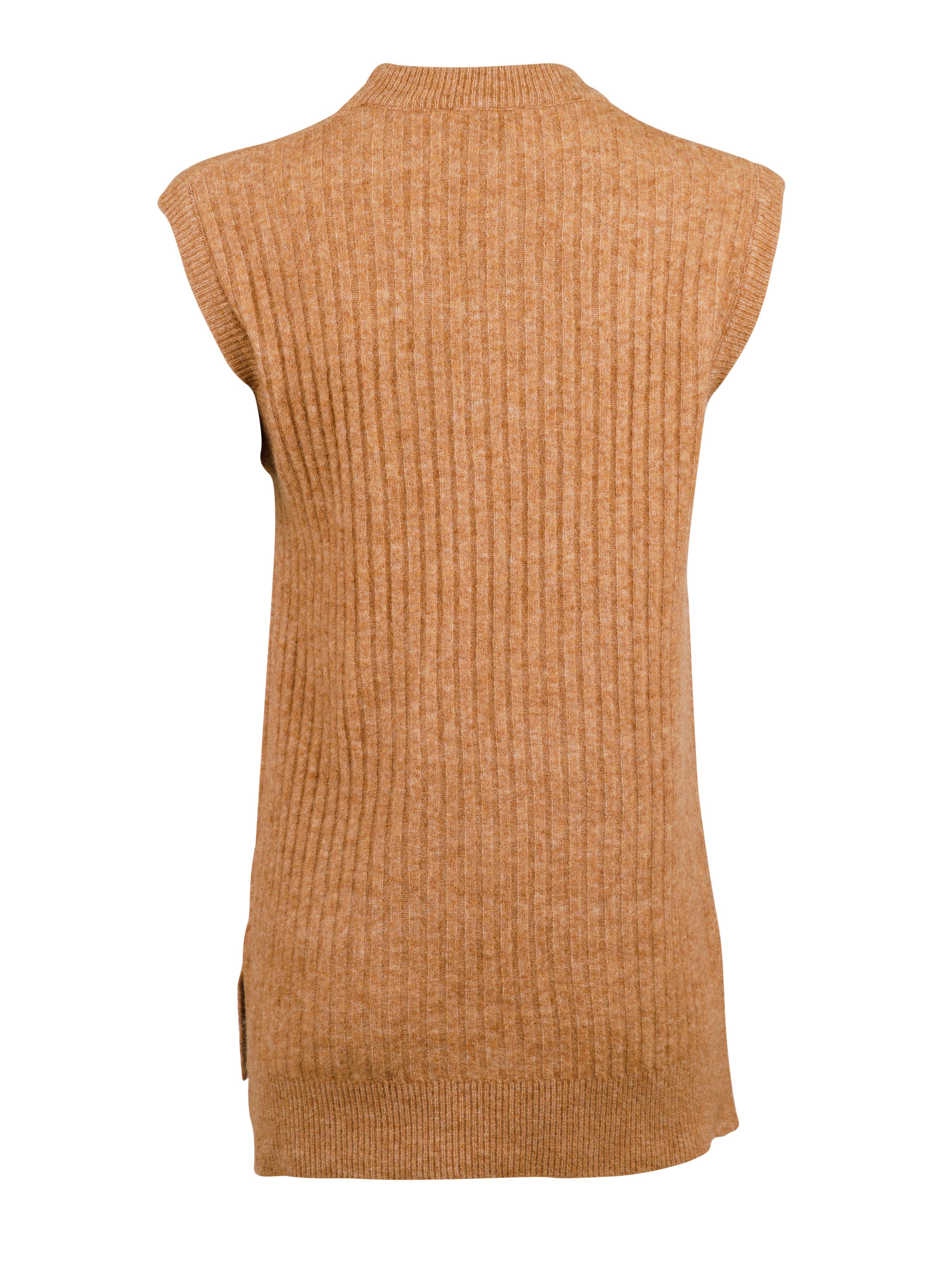 Neo Noir Natascha strik vest, brown melange, small