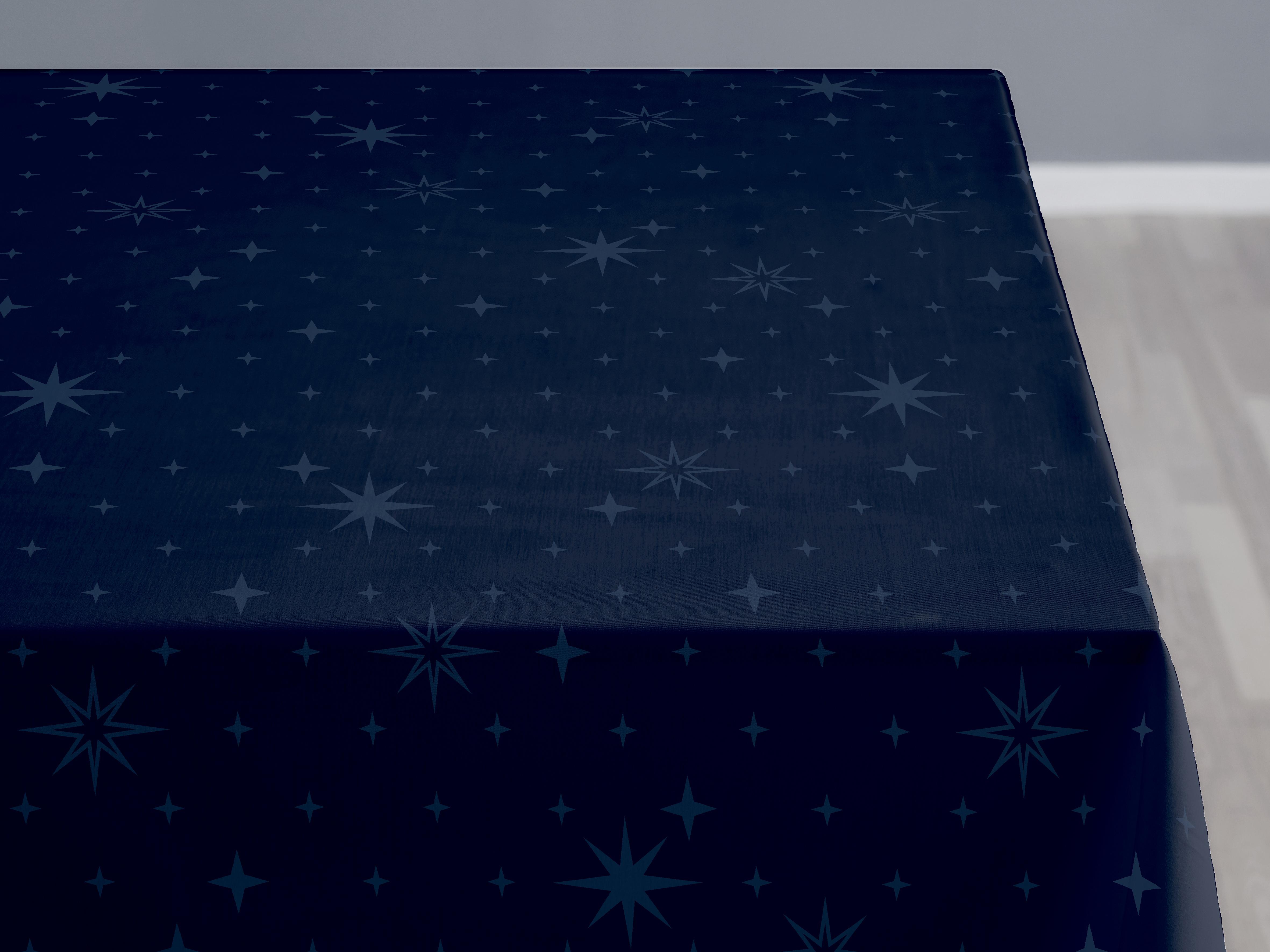 Södahl Stella damaskdug, 140x180 cm, indigo