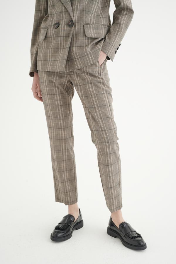 InWear CallinaIW bukser, Brown Check, 40