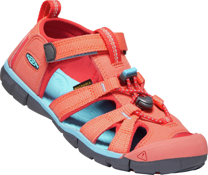 Keen Seacamp II CNX C sandal, coral poppy red, 30