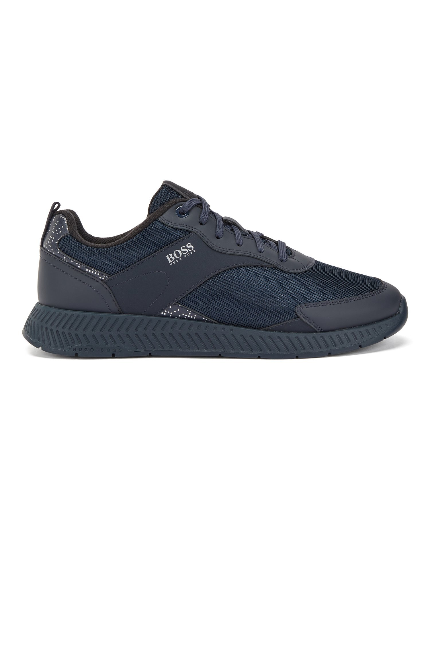 Hugo Boss Pixel-print sneakers, blå, 45