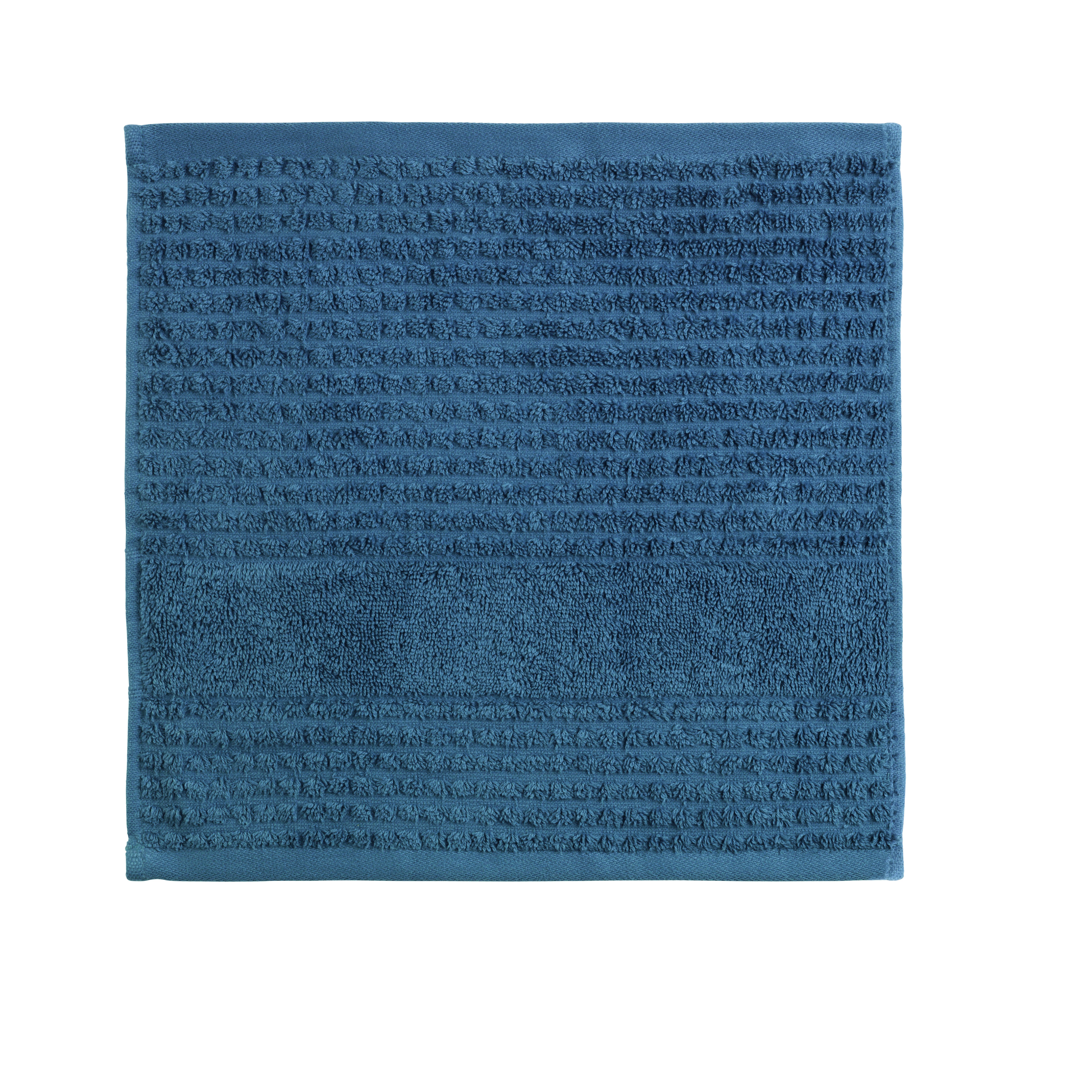 Juna Check vaskeklud, 30x30 cm, dark blue