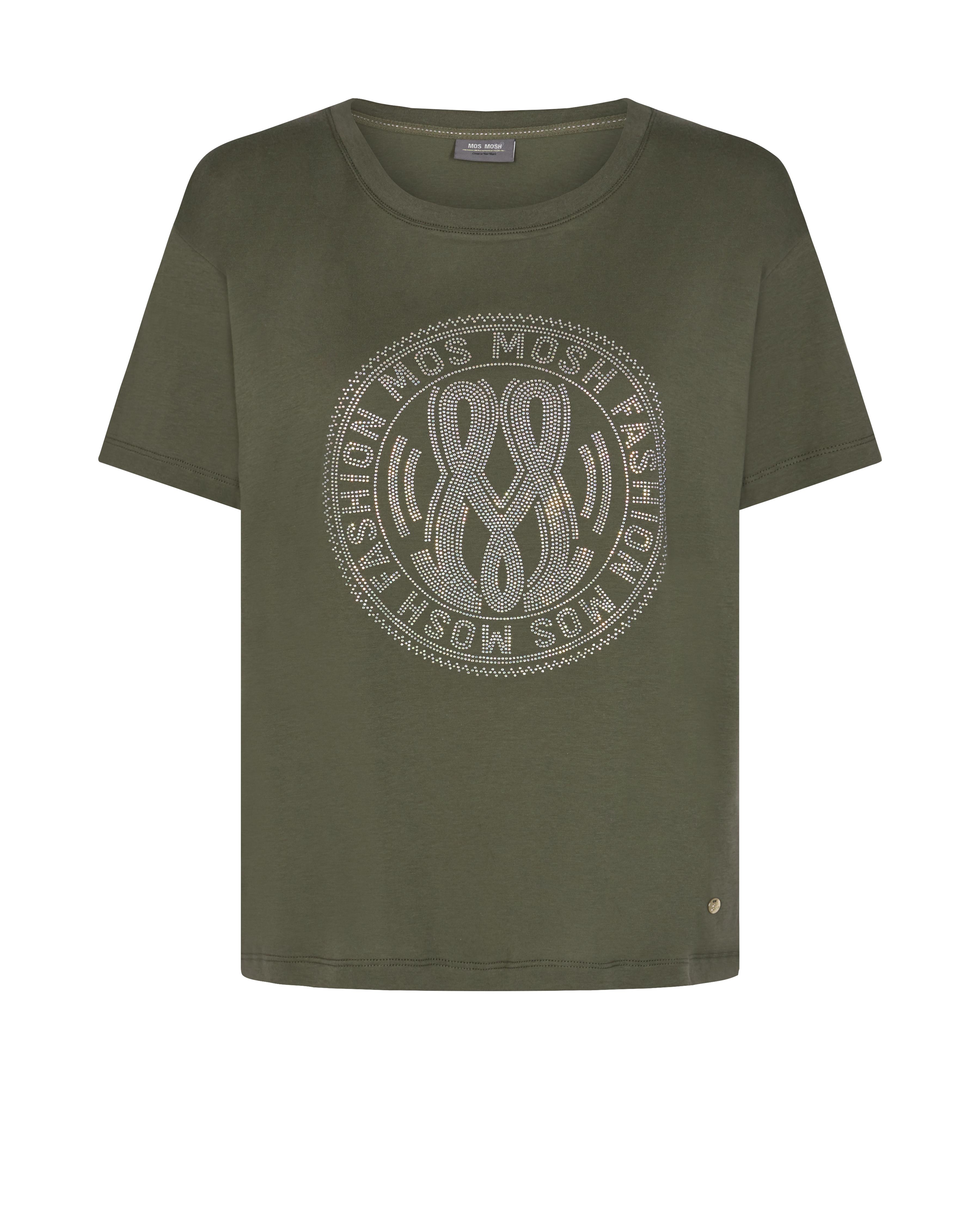 Mos Mosh Leah Holi t-shirt, grape leaf, M